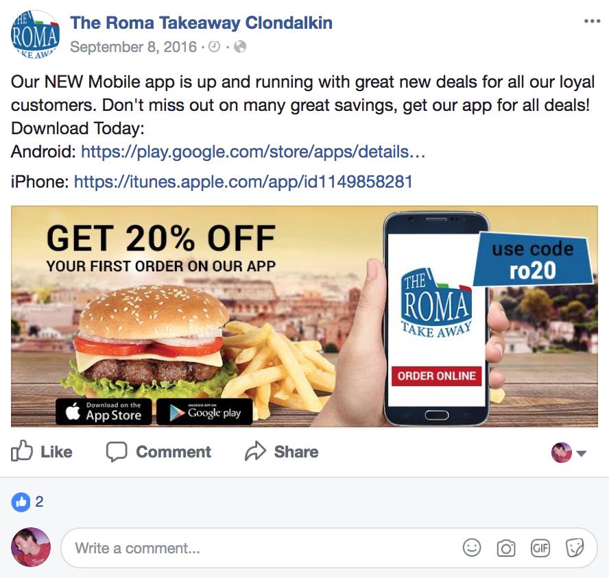 facebook flipdish online mobile ordering app