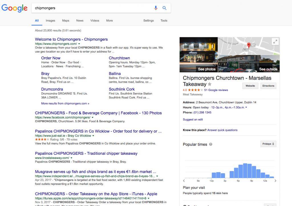 google my takeaway business flipdish