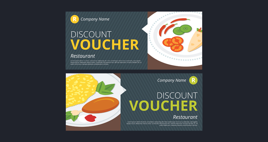 Partially Applied Vouchers for Online Ordering