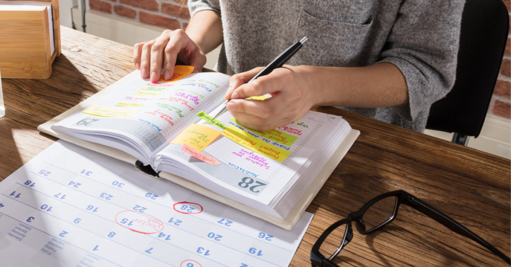 Social media content calendar creation