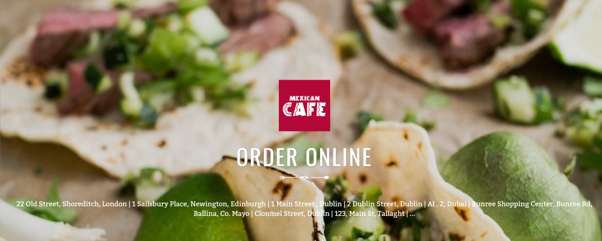 The Latest Food Ordering Website Design from Flipdish