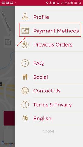 Remove Credit Card Flipdish App Step 2