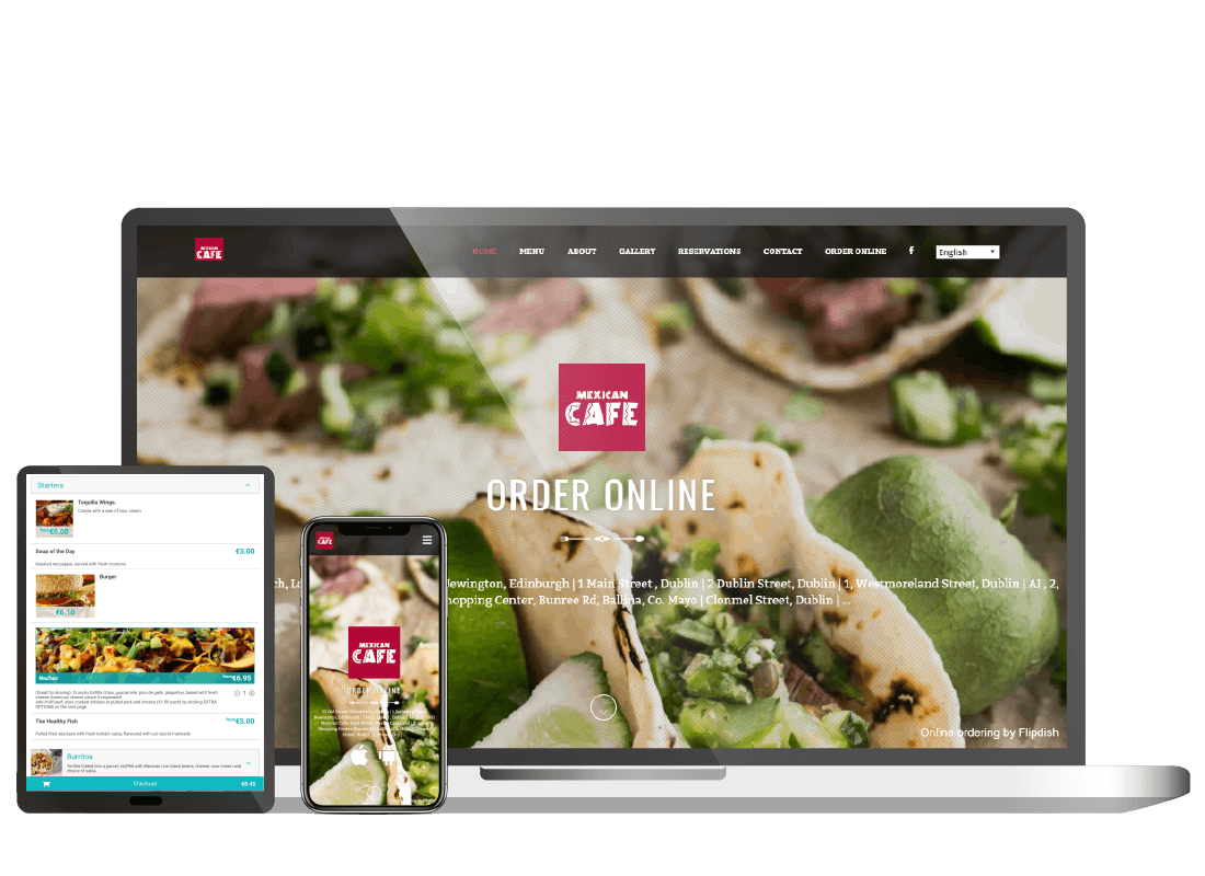 Own brand food online ordering website