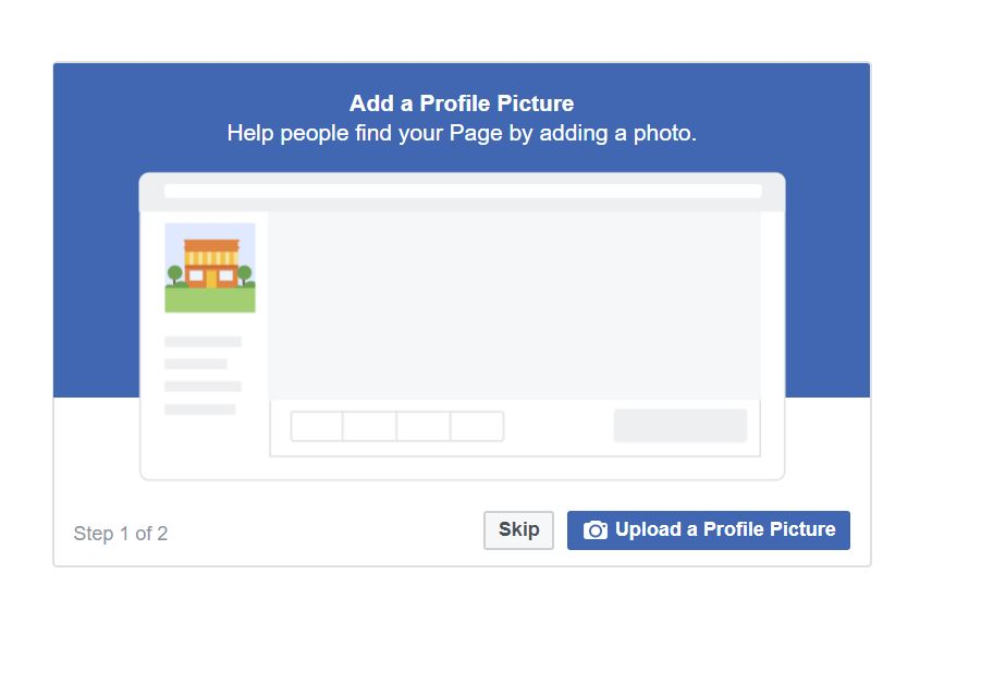 image of adding pictures to your new Facebook business page