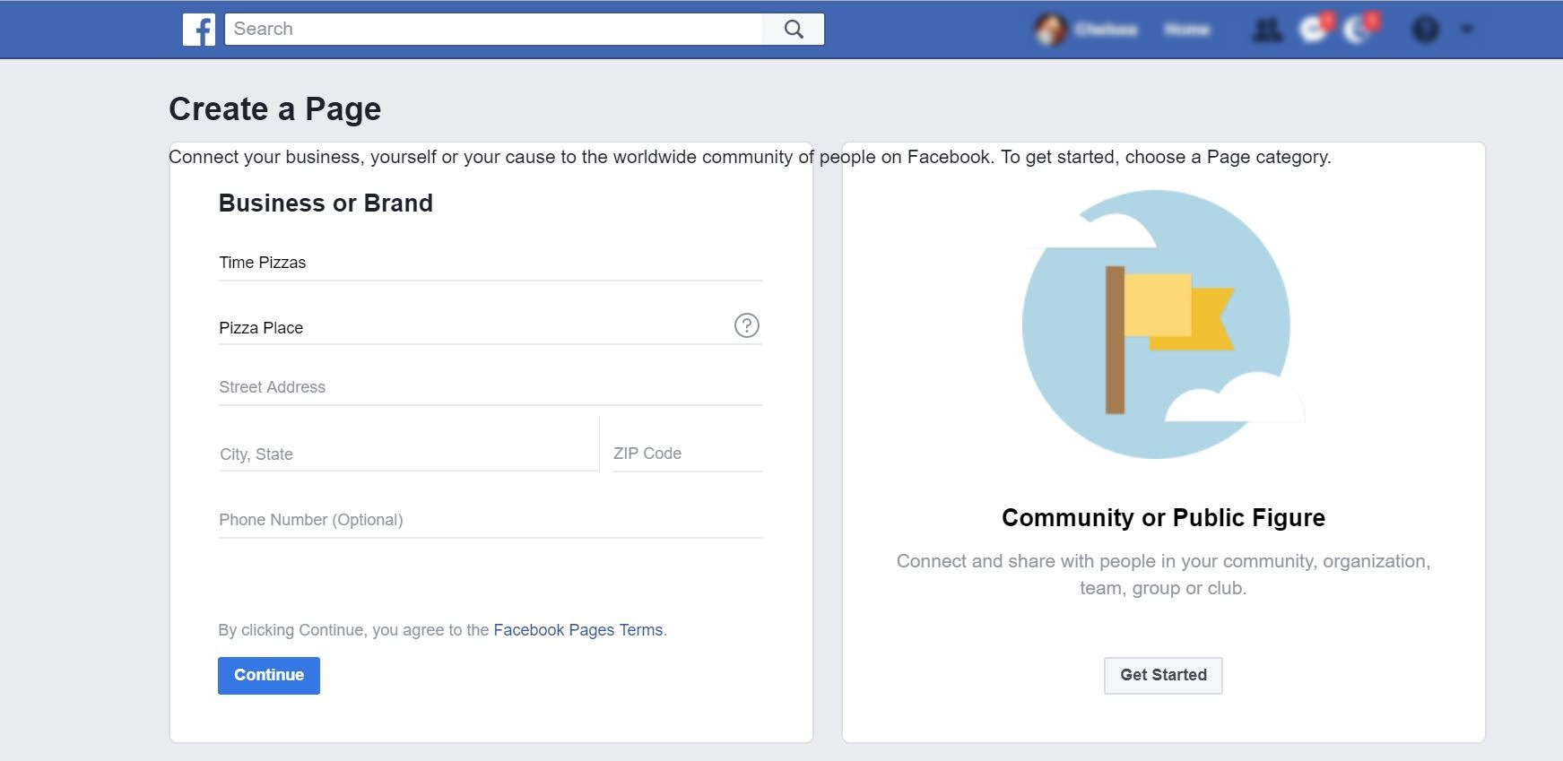 image of Facebook business page overiew