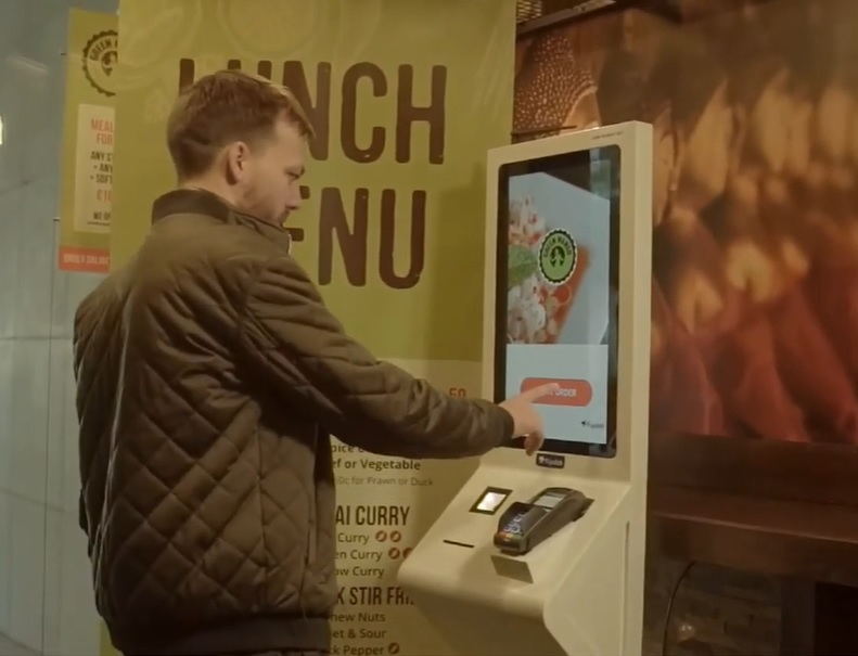 Self-Service Restaurant Kiosk Customer