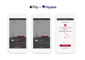 Apple pay on mobile devices for Flipdish Online Ordering