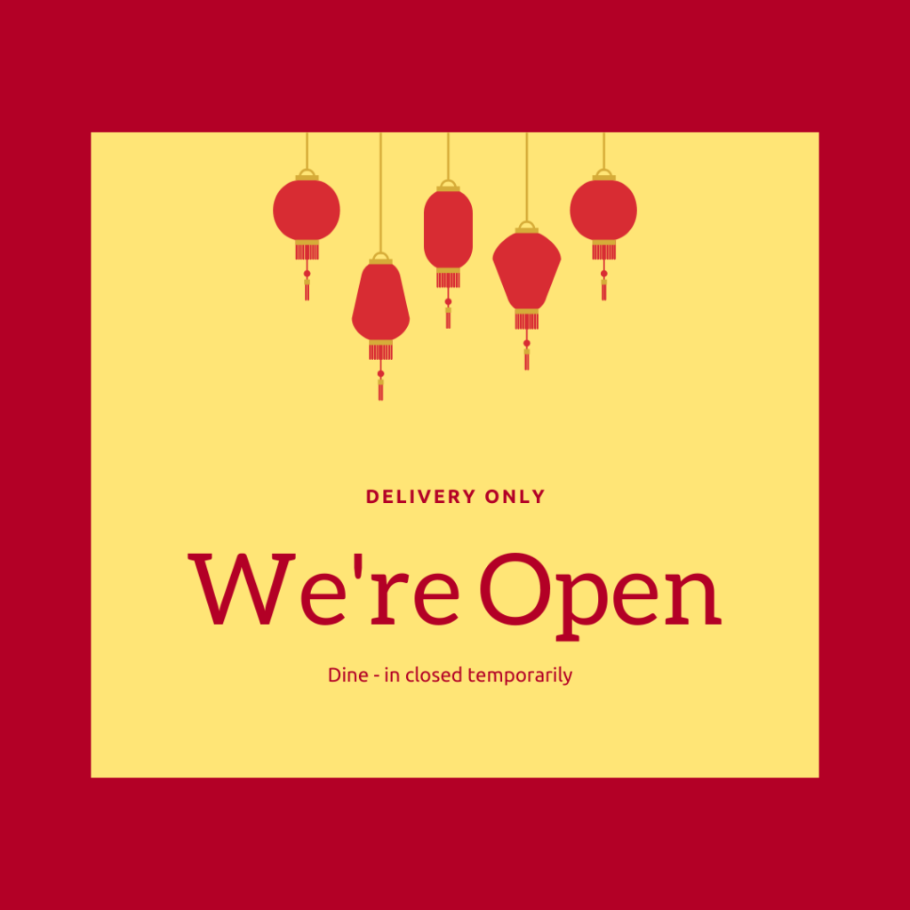 Takeaway food open for delivery Covid19