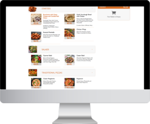 Flipdish online menu for online ordering on desktop