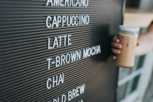 beautiful coffee menu design for ordering and online ordering