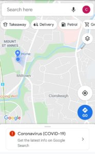 New buttons for food delivery in Google Maps