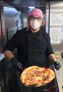 Flipdish's Spanish customer feeding frontline staff with pizza - Helbert image