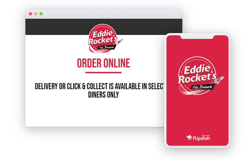 Eddie Rockets Online Ordering Website and App Powered by Flipdish