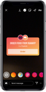 Get direct orders on Instagram - Food ordering phone image