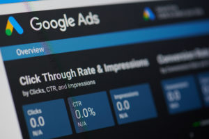 screen grab of Google ads used for social media marketing