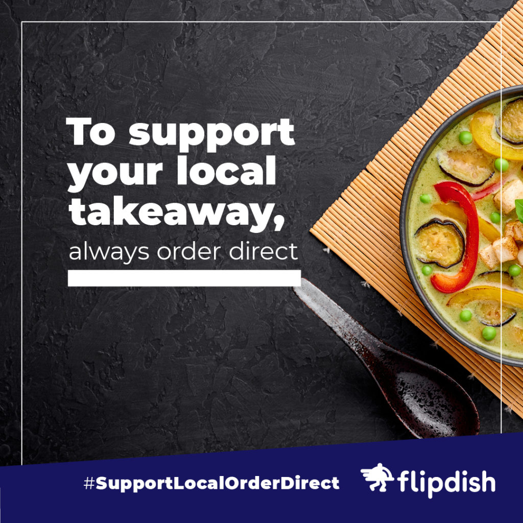 Support Local, Order Direct: Helping restaurants and takeaways in tough times instagram example