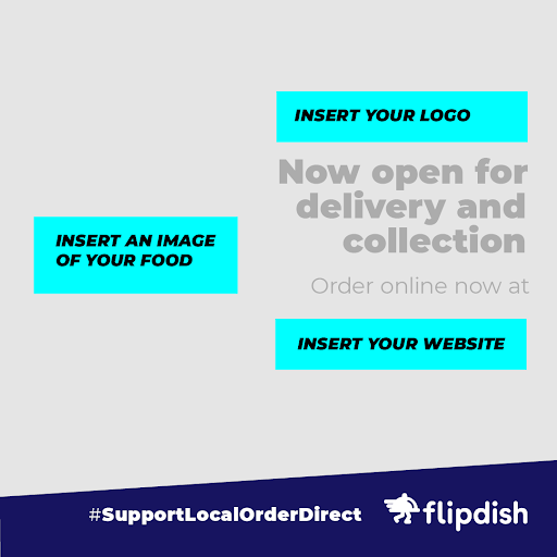 Support Local, Order Direct: Instagram example formatting