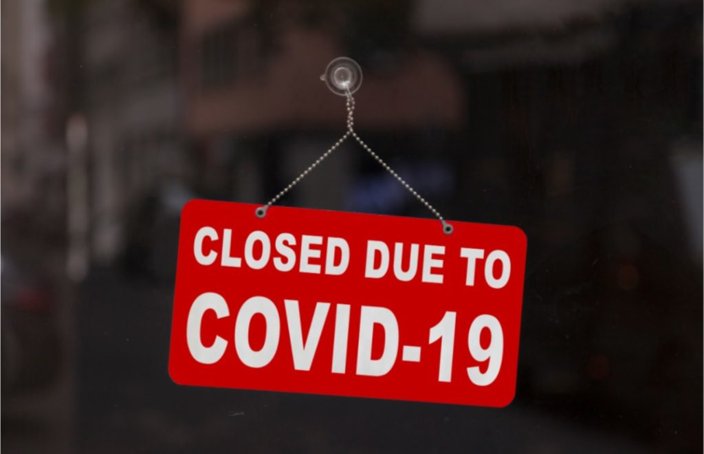 restaurant closed due to covid
