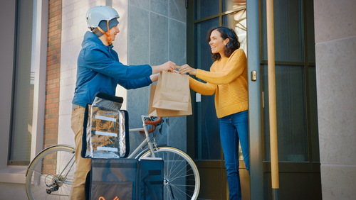 10 ways to increase your online orders in the year ahead - Delivery rider image