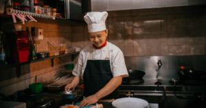 Chef prepping for service - Restaurant marketing ideas for Chinese New Year